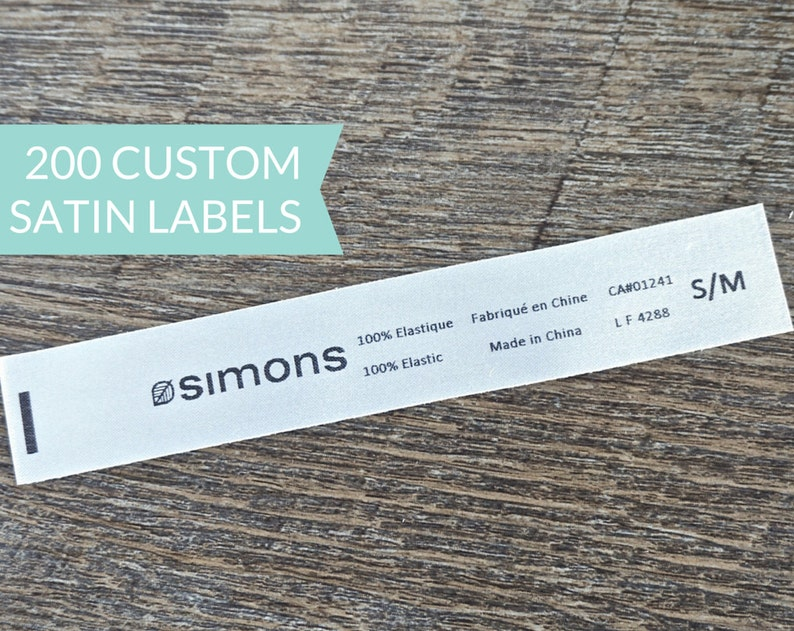 Qty 200  Custom Satin sew-in label  Logo / Name and Content image 0