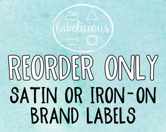 Qty 200 - RE-ORDER ONLY - Brand Labels/Iron-on Labels