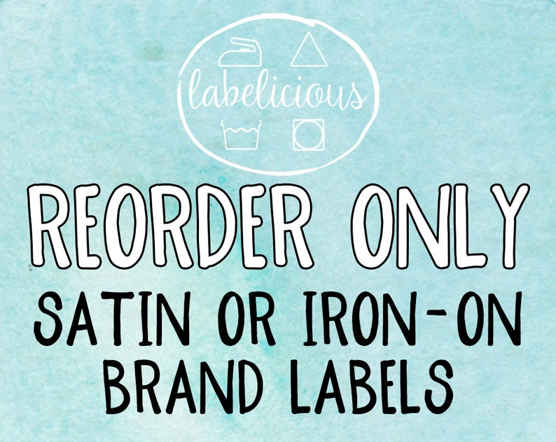 Qty 200  RE-ORDER ONLY  Brand Labels/Iron-on Labels image 1