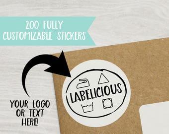 Qty 200 - Custom Product Sticker - Custom Brand Sticker - Custom Product Label - Matte Product Sticker