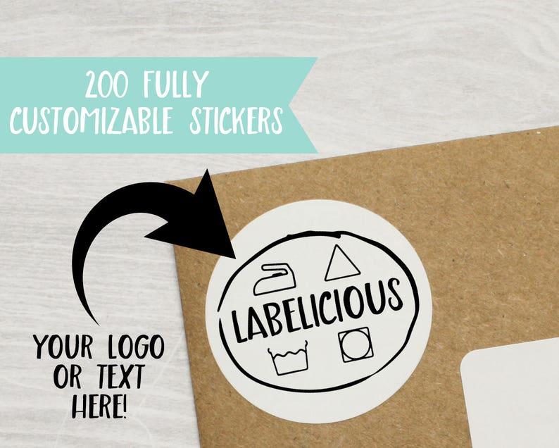 Qty 200  Custom Product Sticker  Custom Brand Sticker  image 0