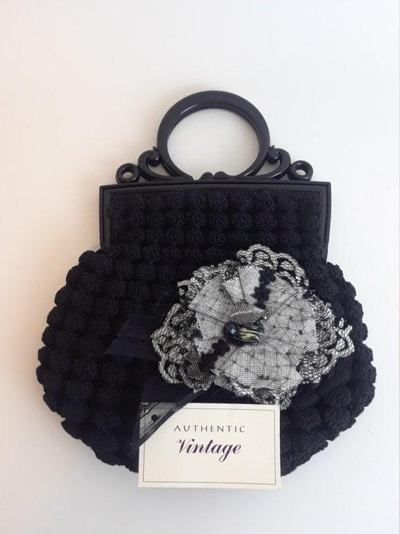 Dorothy, 1930s depression era black crocheted purs