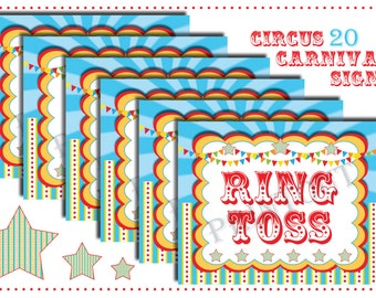 picture regarding Free Printable Carnival Signs called Circus symptoms Etsy