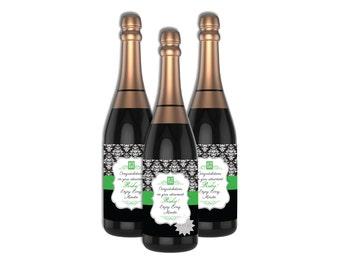 Retirement Wine Bottle Label-Champage Wine Bottle Labels-DIGITAL DOWNLOAD