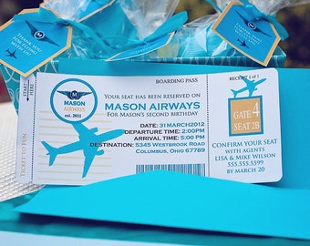 DIY Printable AIRPLANE Birthday Invitation Kit - Invite AND Thank You Card included