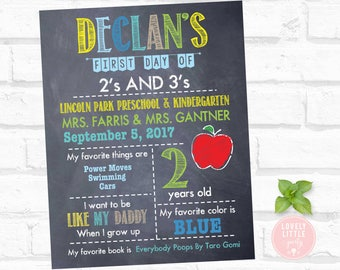 Digital Back to School Poster, School First Day of Poster, School Poster 02 - Lovely Little Party