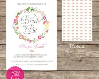 Harper Collection Floral  Bridal Shower Invitation -  Lovely Little Party