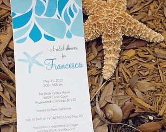 DIY Printable Ocean Inspired BRIDAL SHOWER invite - Lovely Little Party