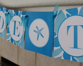 """Printable """"Bride to Be Banner"""" Beach Shower Collection- LOVELY LITTLE PARTY"""