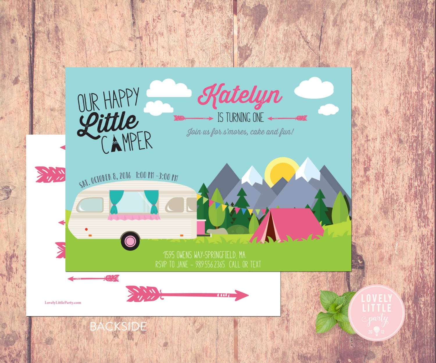 Happy Little Camper Invitation Little Camper Birthday | Etsy
