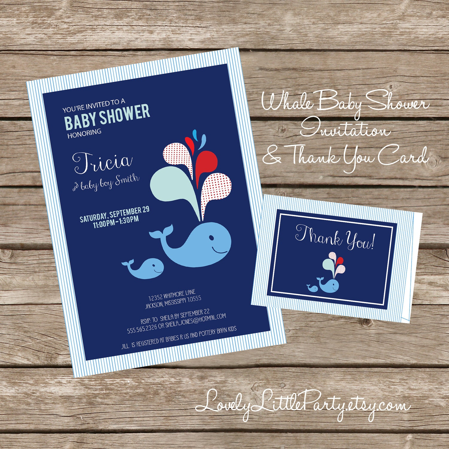 Diy printable whale themed baby shower invitation and thank you card diy printable whale themed baby shower invitation and thank you card lovely little party filmwisefo
