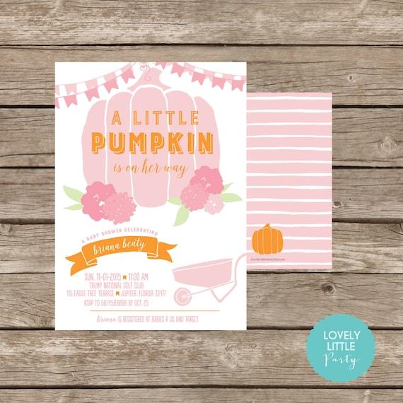 Little pumpkin themed baby shower invitation lovely little etsy image 0 filmwisefo