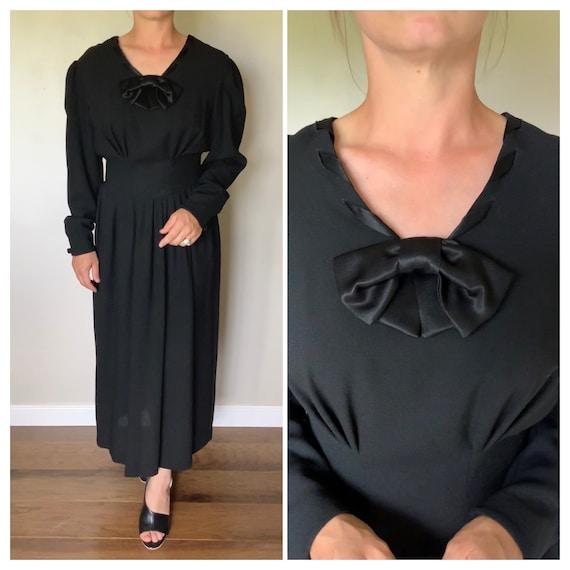 Vintage 1990's Original Laura Ashley Black Wool D… - image 1