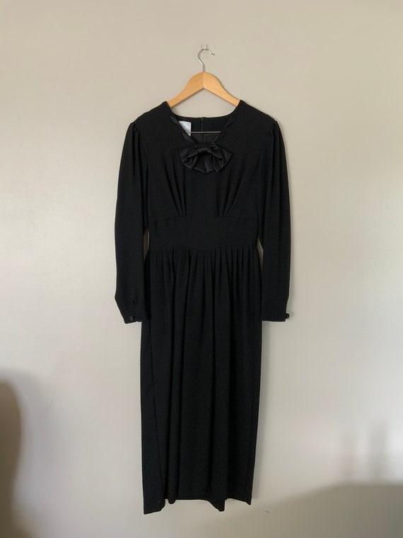 Vintage 1990's Original Laura Ashley Black Wool D… - image 3