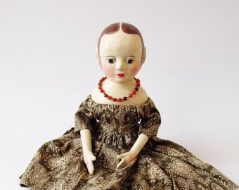 Mary une Izannah Walker inspiré l'artiste poupée tons d'automne