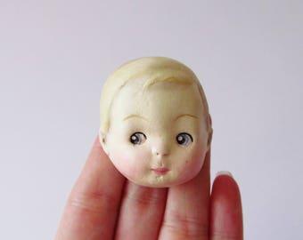 Dottie's Doll Brooch Sammy - Paperclay Antique Doll Pin