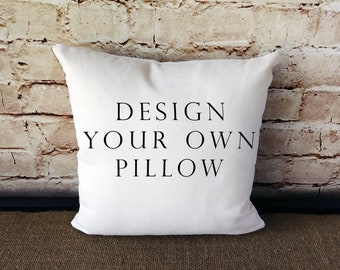 Custom Pillow - Personalized Pillow - Design Your Own Pillow - Bridal Gift  - Housewarming Gift - Wedding Gift - Gift For Friend - Dorm Room 0cf137e4dd