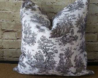 French Pillow Covers - French Toile Pillow - Pillow Covers - French Country Pillow Covers - Toile Pillow Cover - Black Toile Pillow - Toile