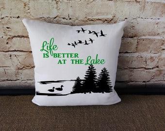 Lake House Pillow - Lake House Decor - Lake House - Lake Cabin Pillow  - Cabin Decor- Lake Pillow - Country Cottage - Lake Home Decor