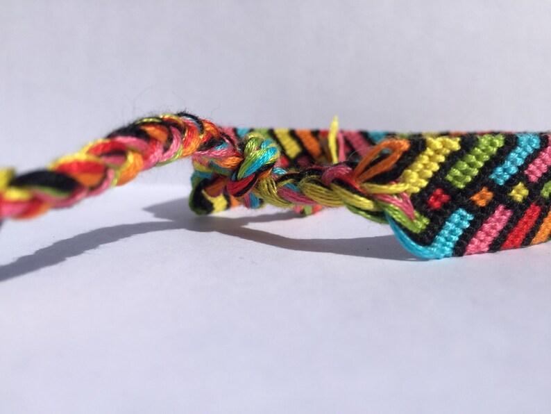 Rainbows Squared Friendship Bracelet