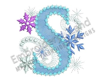 ice princess applique letter s frozen cloth decor applique machine embroidery design for girls dl046