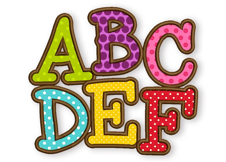 BX font included Smarty Applique Alphabet Font Machine image 0