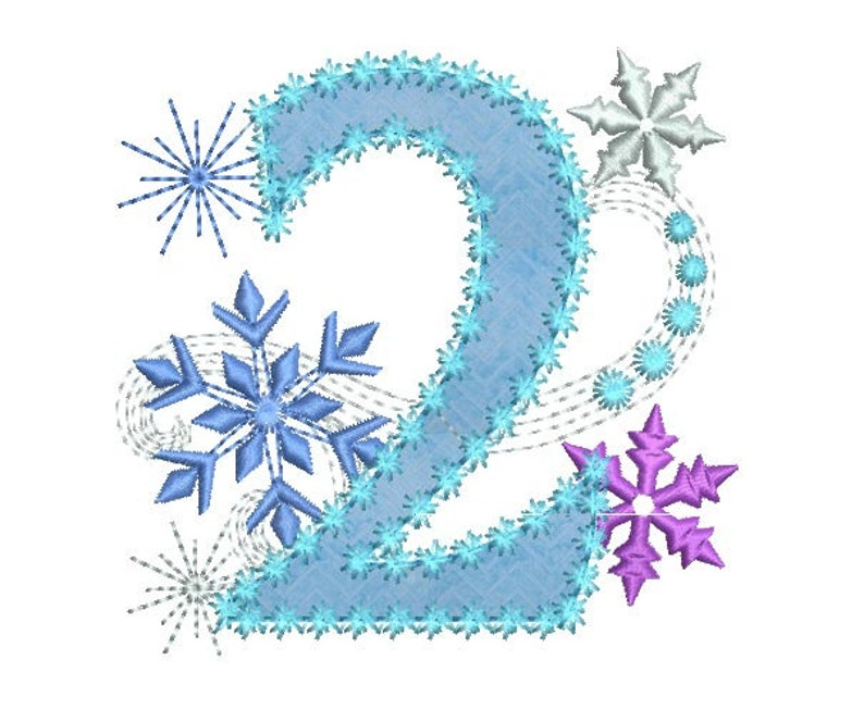 Ice Princess Number 2 Frozen Happy Birthday Cloth Decor