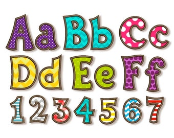 BX font included! Kiddy Applique Alphabet Font Machine Embroidery Design 4 sizes Uppercase letters, Small letters and Numbers AL028