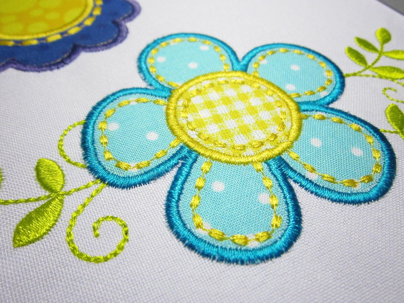 Flowers applique set hand stitch embroidery design fl003 etsy