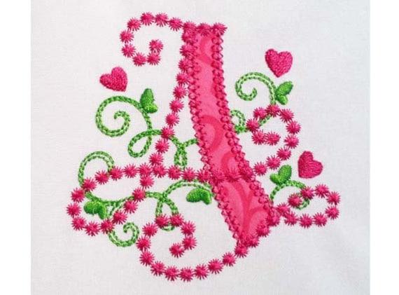 letter a applique machine embroidery design monogram initials etsy