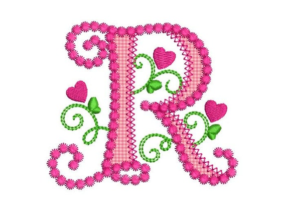 R Alphabet In Heart Cute Letter R A...