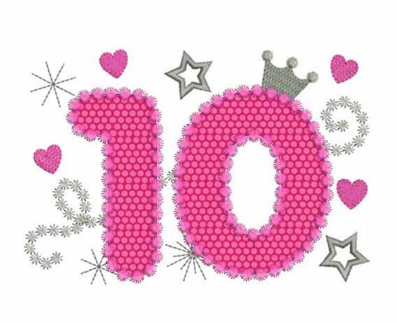 Открытка цифры 10, открытки девочке месяцев