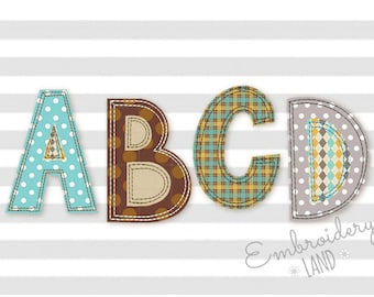 BX font included! Free Edge Raggy Applique Alphabet Font Machine Embroidery Design 4 sizes Uppercase, Small letters and Numbers AL048
