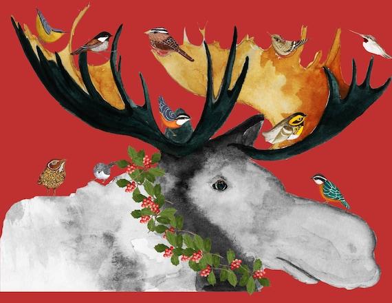 image 0 - Christmas Moose