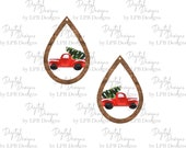 Wood Truck Earrings ( these are cut out shapes for halebound earring blanks) Digital Design for Sublimation