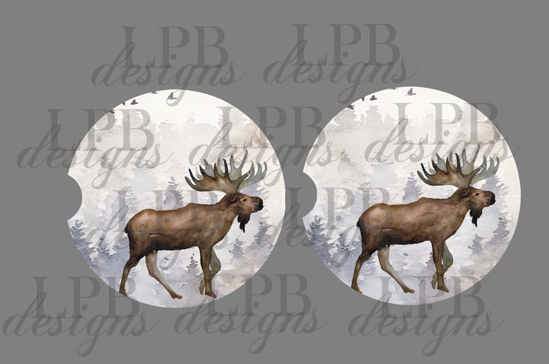 picture regarding Moose Template Printable called Moose Sublimation Automobile Coaster template