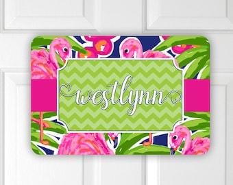 Flamingo Girlu0027s Room Door Wall Hanger ~ Girlu0027s Name Decor ~ Bedroom Girlu0027s  Name ~ Girlu0027s Wall Decor ~ Girlu0027s Door Hanger ~ Kidu0027s Name Sign
