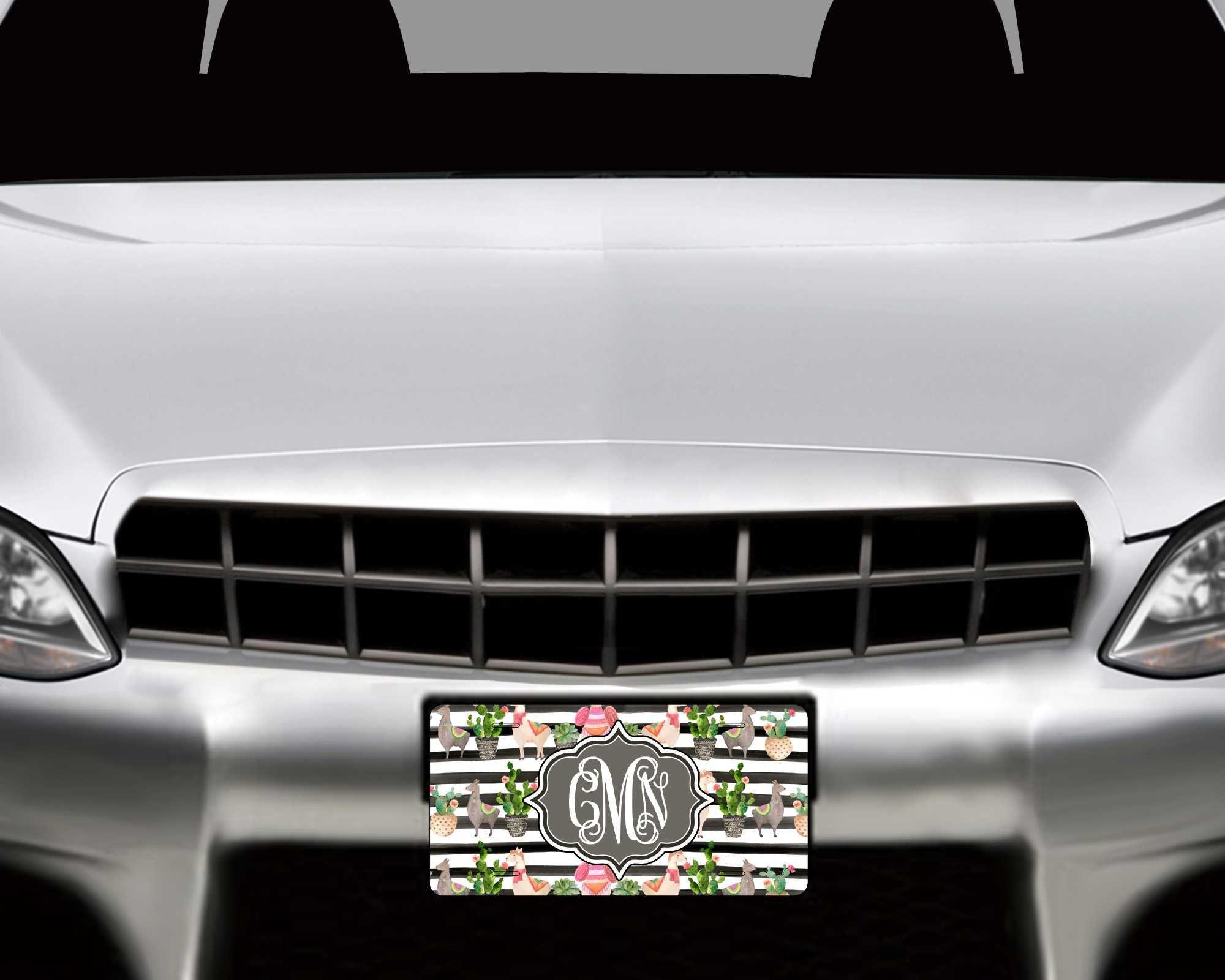 License Plate Frame ~ Llamas License Plate ~ Cactus License Plate ...