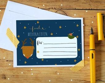 Address stickers - Christmas - 5 pcs.