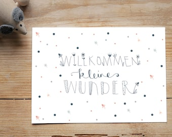 """Postcard """"Welcome Little Miracle"""""""