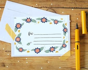 Address stickers - flowers - 5 pcs.