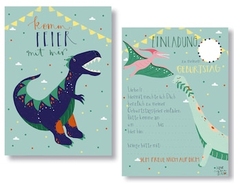 Invitation Cards Children's Birthday, Birthday Invitations, Dinos, Children's Birthday Invitation,