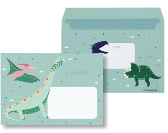 """Envelopes """"Dinos"""" - 10 pieces"""