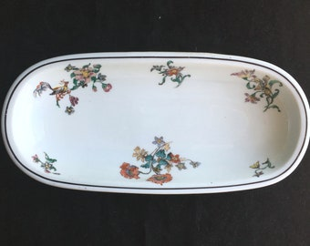 Lamberton Scammell Diner Hotel Restaurant China Floral Celery Tray in Excellent Condition