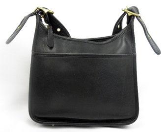 a989abbc1dc5 Made in 1993 Coach LEGACY - Black Glove Tanned Leather Vintage Coach purse  cross body bag