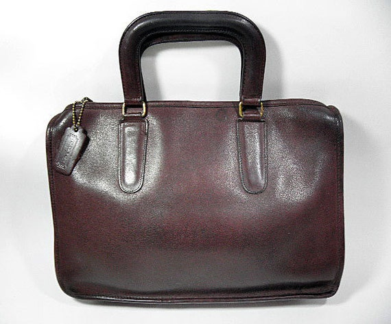 Coach Brown '70's LEATHERWARE Tablet Briefcase Bag made in NYC