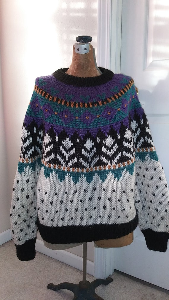 Vintage Ivy Ski Sweater size medium