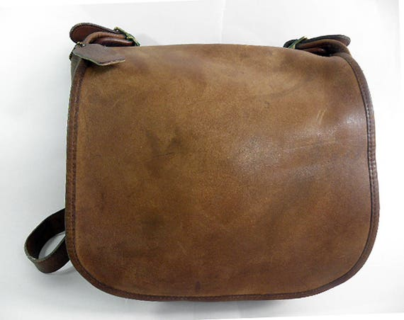 LARGE 1970's Vintage Coach Legacy Leather Shoulder Bag Bonnie Cashin NYC