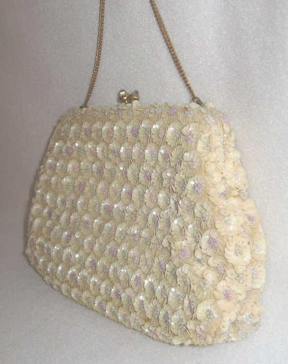 Bags By Josef Vintage French Hand Beaded Evening Bag