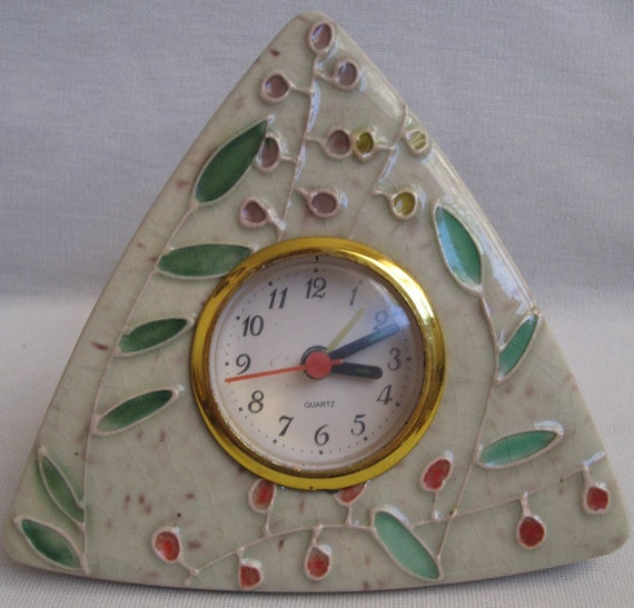 Vintage NATURE Clock - Beautiful Nature-Themed Art Clock, '80's